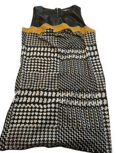NY Collection short dress Black White and Yellow on Tradesy