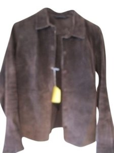 Express Brown Leather Jacket