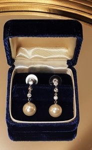 Gorgeous Cz Bridal Pearl Drops