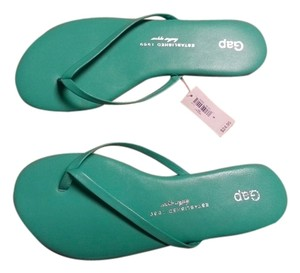 Gap Leather Southern Turquoise Sandals