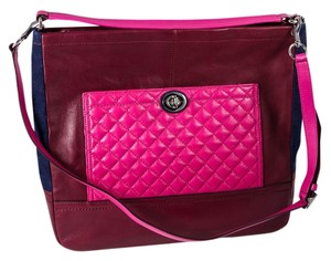 Coach Quilted Leather Suede Colorblock Hobo Bag