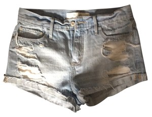 Abercrombie & Fitch Denim Boyfriend Cut Off Shorts Blue