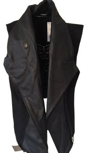 Vince Leather Cotton Leather Vest
