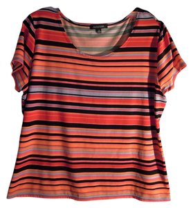Notations Top red, orange, pink, black stripe