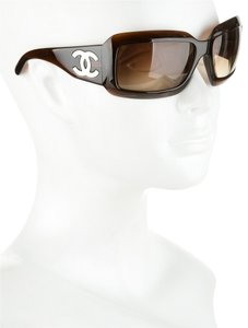 Chanel Chanel 5076 Brown CC Logo Mother Of Pearl Sunglasses Wrap Bag Case Timeless Classic MOP