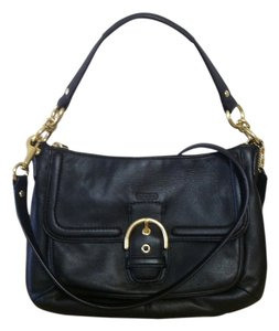 Coach Leather Buckle Crossbody Hobo Bag