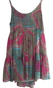 Millau short dress Pink and Blue Print on Tradesy