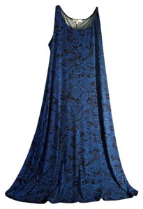 blue and black Maxi Dress by TravelSmith