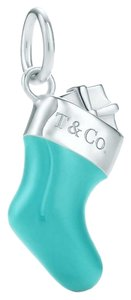 Tiffany & Co. Tiffany Blue Enamel & Sterling Silver Stocking Charm.
