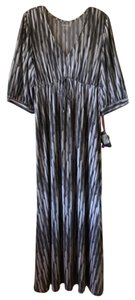 Black and White pattern Maxi Dress by Half Moon