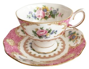 Other Lady Carlyle Bone China Footed Cup & Saucer Set by Royal Albert (2-pc.) [ Roxanne Anjou Closet ]