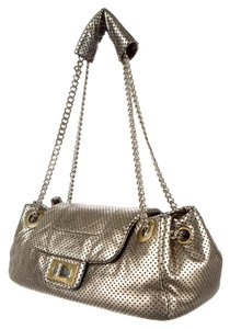 Chanel Flap Chain Perforated Leather Reissue Satchel in silver