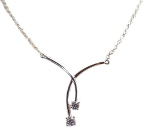 Other Ravishing Sterling Silver Infinity CZ Necklace