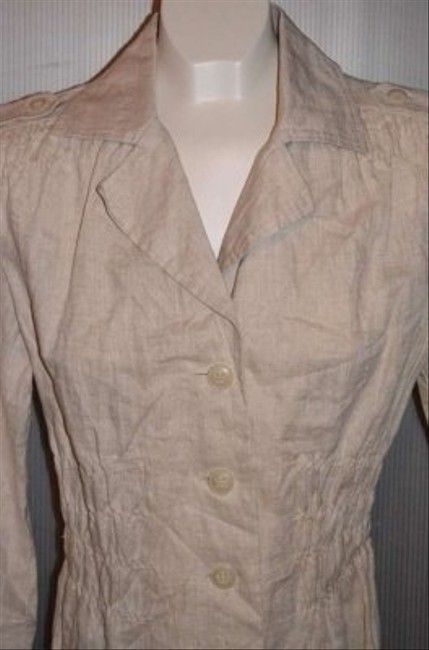 Dress Barn Nwot 100% Linen Nice Detail Around Gathered (elastic) At Waist Measurements Are 22