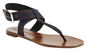 Burberry Blue Navy Denim Kington Indigo Sandals