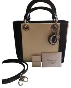 Dior Satchel in Black And White Pearl