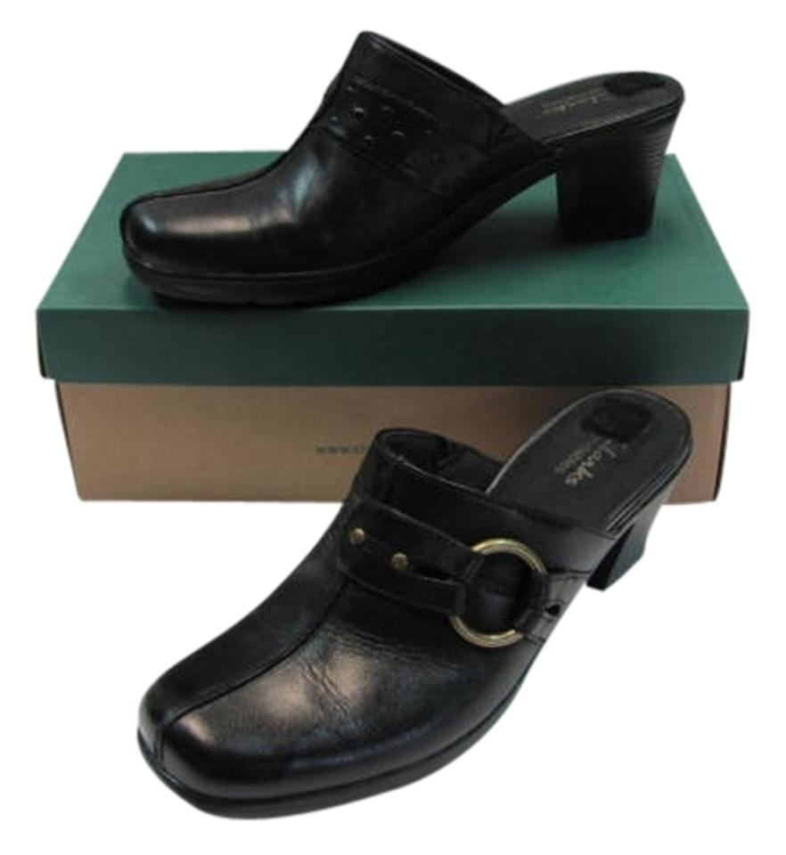 WOMENS Clarks Stylish Black in Leather Mules/Slides New products in Black 2159 15a5c8