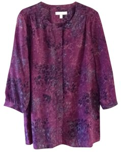 Banana Republic Top Purple multi