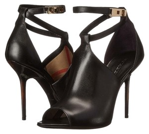 Burberry Heels Checkhouse Heels Nova Check Black Sandals