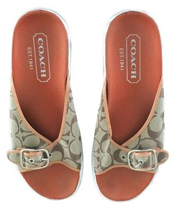 Coach Brown signature canvas Sandals