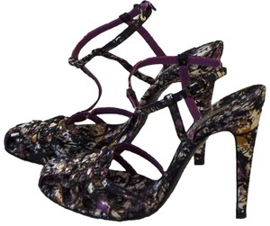 Bottega Veneta Satin Leather black / purple/ orange / beige Pumps