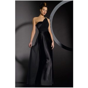 Bari Jay Black Black Bridesmaid Gown Dress