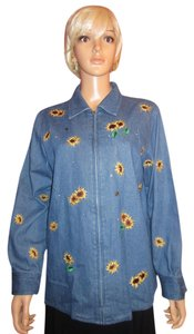 Quacker Factory Muilti Color Womens Jean Jacket