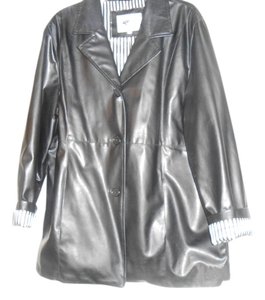 ZLC Collections Faux Leather Leather Jacket