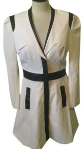 bebe Colorblock Faux Leather Trench Coat