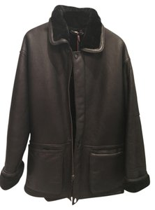 Neiman Marcus Leather Shearling Leather Jacket