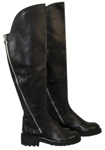 Ash Leather Zippers black Boots