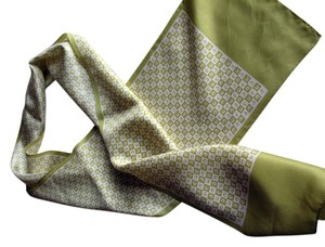 Other Silk Scarf, e, Yellow-green