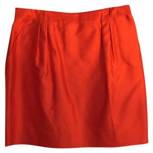 Kate Spade Mini Skirt orange