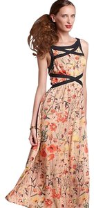 floral multicolor Maxi Dress by Anthropologie Tea Length Midi