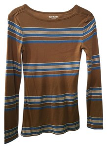 Old Navy T Shirt Brown & blue