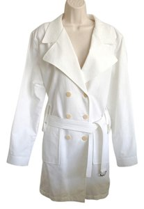 Armani Collezioni Trench Coat Armani Double Breasted White Jacket