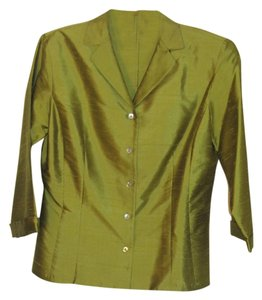 Ann Taylor Silk Top green