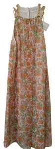 Shoshanna short dress Floral multi color/orange and green. Gold Thread Detail on Tradesy