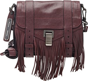 Proenza Schouler Fringe Crossbody Burgundy Clutch Leather Satchel in oxblood