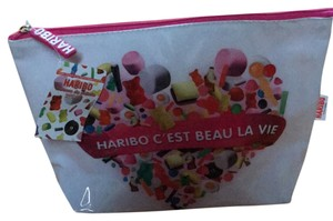 Haribo Toiletry Promotional Cosmetic Case Pink and multi Travel Bag