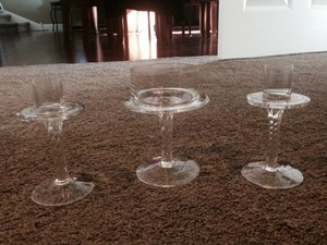 Glass Wedding Unity Candle Holders