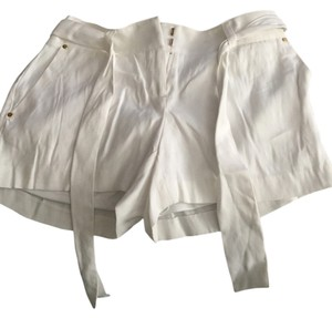 Cache Dressy Belted Summer Short Dress Shorts White