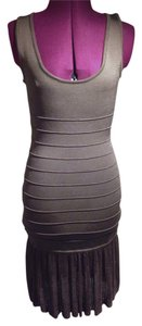 bebe Bandage Bodycon Fitted Flare Dress