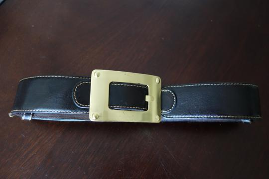 Other Chunky Brown Belt with Gold Buckle