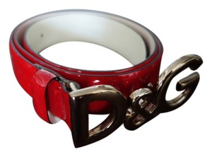 Dolce&Gabbana D&G Red Patent Leather Belt