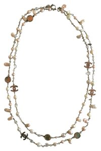 Chanel Long CHANEL Freshwater & Mother of Pearl Necklace