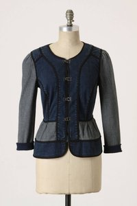 Anthropologie Jean Splicing BLUE Womens Jean Jacket