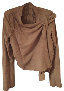 Rick Owens Leather Draped Chic taupe Jacket