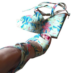 Zara Tropical Floral Sandals