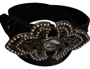 Miss Me Miss Me Choclate & Crystal Belt Size M